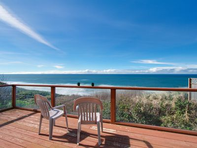 Photo for Dog-friendly A-frame cottage—oceanfront w/ ocean views & two blocks from beach!
