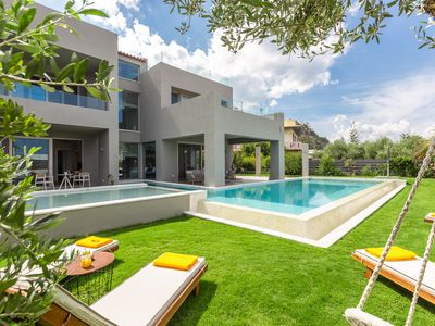 Photo for Villa Sissy, Luxury, breakfast, private pool, 200m from the beach