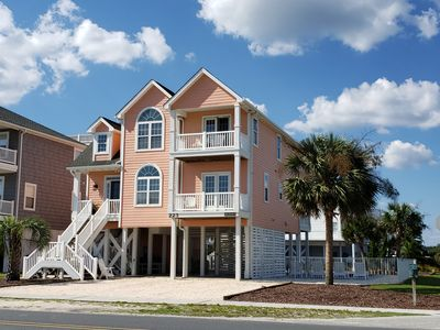 Photo for Luxury OIB Canal Home w/Large Outdoor Pool, Ocean Views & Direct Beach Access