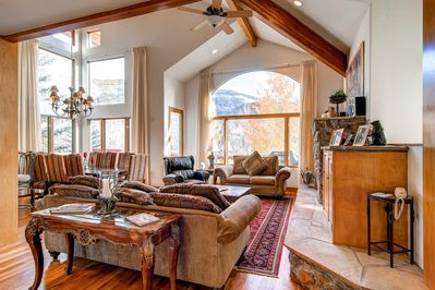 Expansive Views of Vail Mountain from Living Room