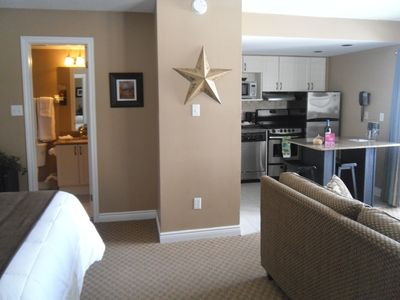 Open concept with 1 Queen Bed and Double Sofabed