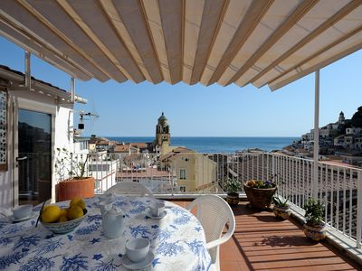 Photo for Housein the center of Amalfi with sea view; beach, shops, bars a few meters away