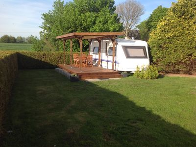 Photo for Detached caravan with private terrace