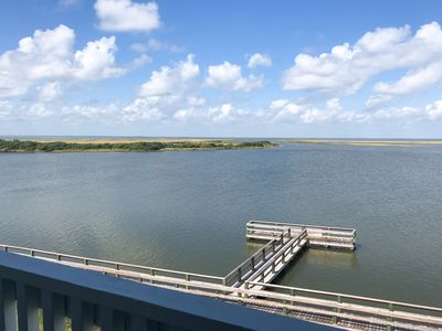 Photo for NEW LISTING! Amazing bayfront home w/ boardwalk & boat mooring - small dogs OK!