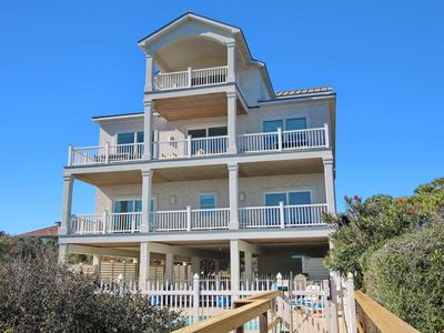 "Photo for No hurricane damage!  Livin' the Salt Life! Beachfront Plantation, Pool, Private Boardwalk, Elevator, 8BR/7.5BA ""Salt Life"""