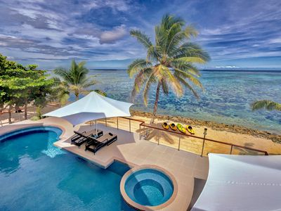 Photo for LomaniWai Luxurious All-inclusive Beachfront Villa