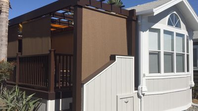 """Photo for Stay in a """"Tiny House"""" 2 blocks from the beach in funky, funky Lucadia, CA"""