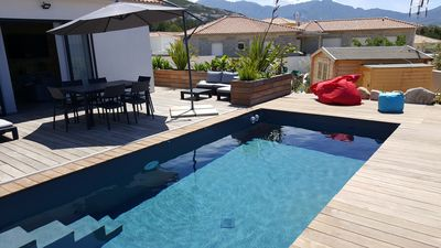 Photo for Villa with pool between sea and mountains ...