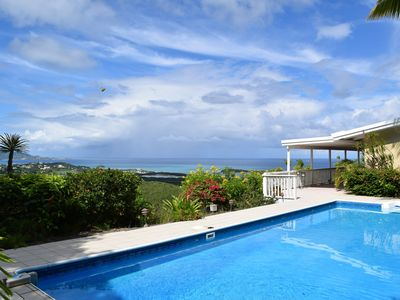 Photo for Panoramic View - Christiansted To Buck Island. Beautiful East End Villa Sublime!