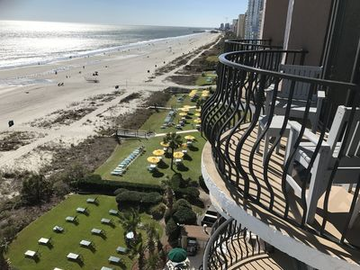 Breathtaking beachfront views from your 2 balconies!