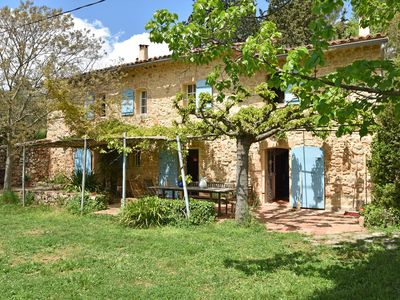 Photo for Characteristic Mas in Provence with large fenced pool and trampoline