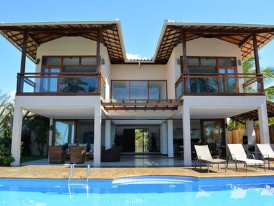 Photo for Luxury House facing the sea with pool