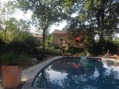 Photo for Pretty country house with pool near Saint Antonin Noble Val