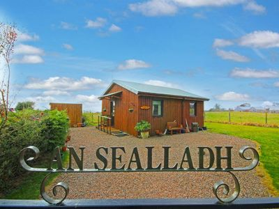 Photo for Secluded Dog Friendly 2 Bedroom Log Cabin in the Black Isle