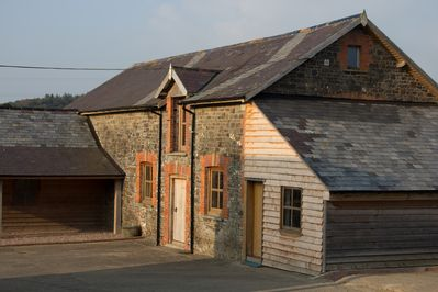 Traditional stone building with a spacious courtyard