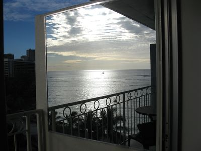 Photo for Luxury Studio, Beach front, Newly Renovated, with sweeping Ocean views.