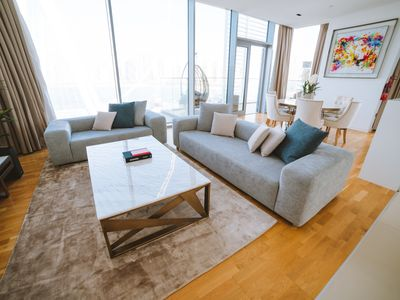 Photo for NEW! Relaxed 3-bed apartment with incredible views