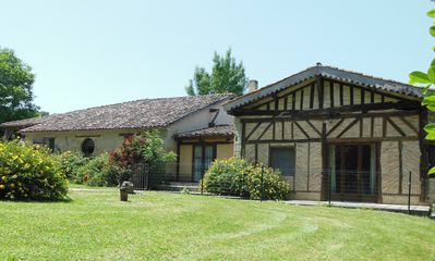 Photo for Totally private 6 bedroom Farmhouse Barn convertion with fenced 11X5m tiled Pool