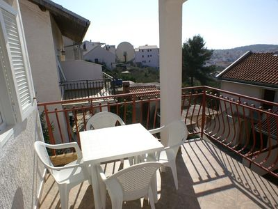 Photo for Two bedroom apartment with terrace and sea view Okrug Gornji, Čiovo (A-4321-d)