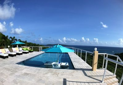 Pool and view out to Buck Island and St. Croix Yacht Club