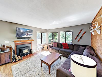 """Welcome to Truckee! Your rental is professionally managed by TurnKey Vacation Rentals. Settle in by the fireplace and watch a movie on the 47"""" smart TV."""