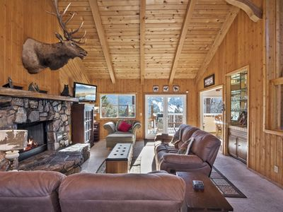 Photo for Gentle Grizzly Getaway: Incredible Ski Slope Views of Bear Mtn! Outdoor Hot Tub! Internet!