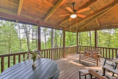 Start each morning of your vacation on this lovely covered porch.
