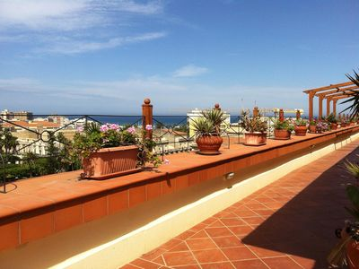 Photo for Penthouse in the historic center, breathtaking view, just steps from the sea