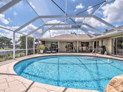 Photo for Waterfront Cape Coral Home w/Pool, Grill & Dock!