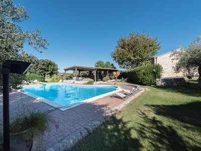 Photo for Old farmhouse with swimming pool, renovated and equipped with all comforts