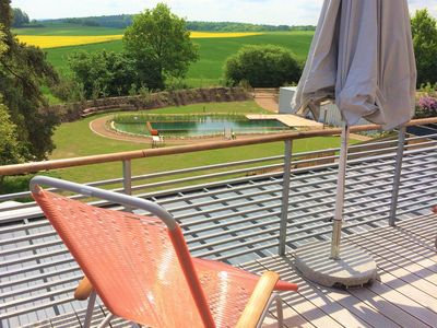 Photo for Luxury balcony with luxury views in the Hassberge Nature Park