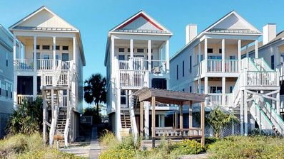 """Photo for Ready now - No storm issues! Great location, bring the pets! Beachfront, Free Beach Gear, 3 BR/3BA, WiFi """"15 Sea Place"""""""