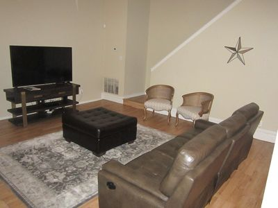Fully furnished living room.