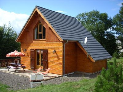 "Photo for WOODEN CHALET SPA + ""The Squirrels"" No. 2 (4 stars) MONT DORE / MOUNTAIN VIEW"