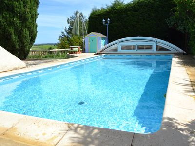 Photo for Family Villa 200m2, indoor pool, garden, open view, near Montpellier