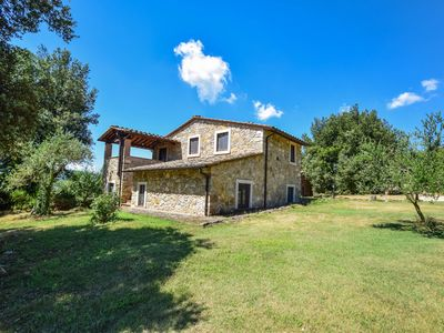 Photo for 2 houses with private pool in hilly & quiet area. 5km from town