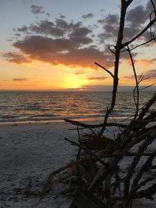 7 miles of white sandy beaches and gorgeous sunsets!!
