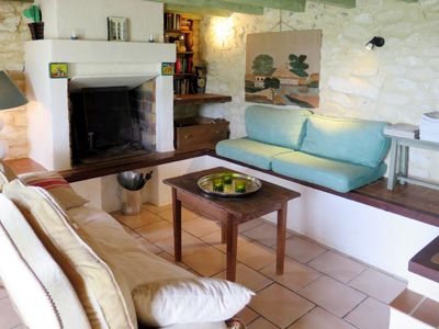 Photo for One bedroom Villa, sleeps 4 in Saint-Grégoire with Pool