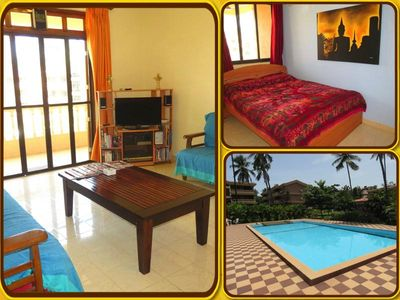 25) Quality 2 Bedroom Serviced Apartment Regal Park Candolim & Wi-Fi