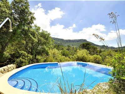Photo for June available!! SA COMUNA- Villa 10 people Puigpunyent, Barbecue. Private pool. Clear views -00063. - Free Wifi