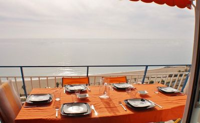 Photo for Vacation apartment with sea views, Wifi and parking on Canet de Mar beach, Costa Barcelona - CM112