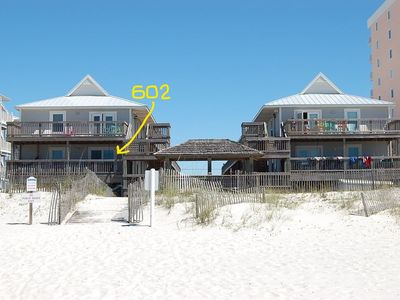 Photo for Direct Gulf-Front unit with Large, Gated Deck/Swing/WiFi/Free Parking