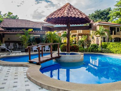 Photo for Patio Home In Costa Rican Beach Town.  Gated With 24/7 Security, Wifi