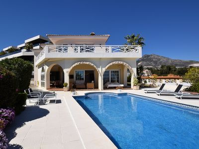 Photo for Luxury villa with private swimming pool and magnificent views, 900m away from the beach