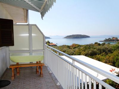 Photo for Two bedroom apartment with terrace and sea view Prižba (Korčula) (A-219-b)
