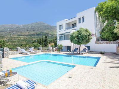 Photo for Detached villa with private swimming pool on the estate in SW coast of Plakias