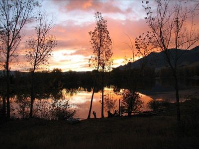 Sunrise on the Lake! We see this often.