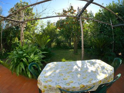 Photo for Villas - 3 rooms - 4 persons in typical garden of orange tree Sant'Agnello (SORRENTO)