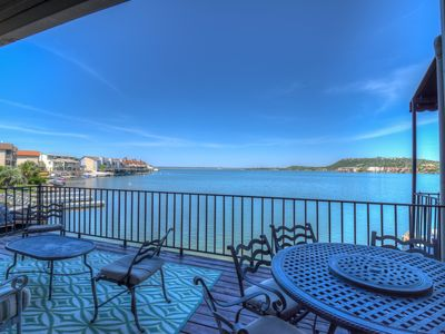 Photo for EXTRAORDINARY VIEWS, WATER FRONT, PRIVATE DOCK, ACROSS HSB, BOAT LIFT, 3700SF