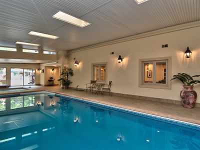 Photo for 2 POOLS ! PRIVATE INDOOR and OUTDOOR HEATED SWIMMING POOL!